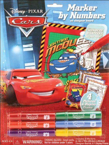 Marker By Numbers, Disney Pixar Cars Theme - 1