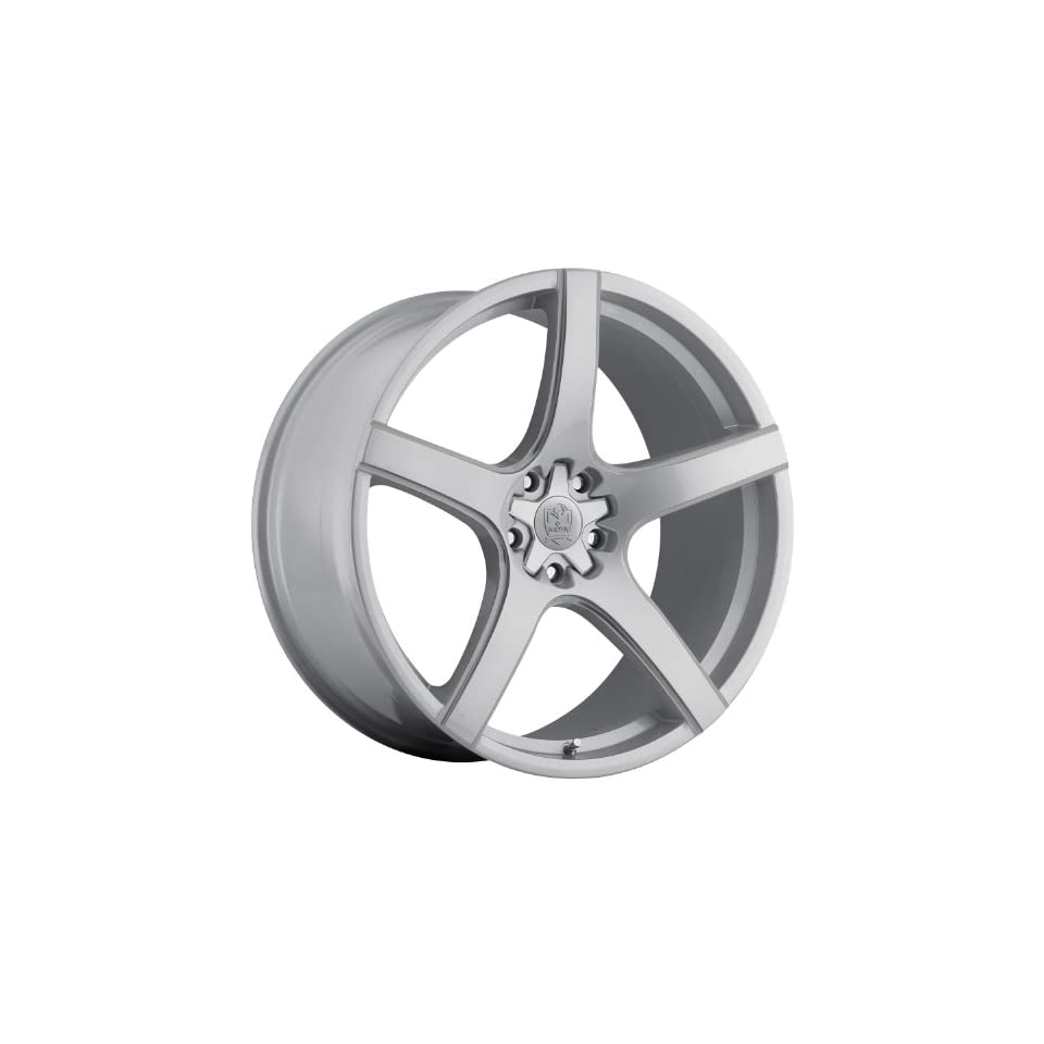 Motiv Maranello 20 Silver Wheel / Rim 5x115 & 5x120 with a 25mm Offset and a 74.1 Hub Bore. Partnumber 410S 2105525