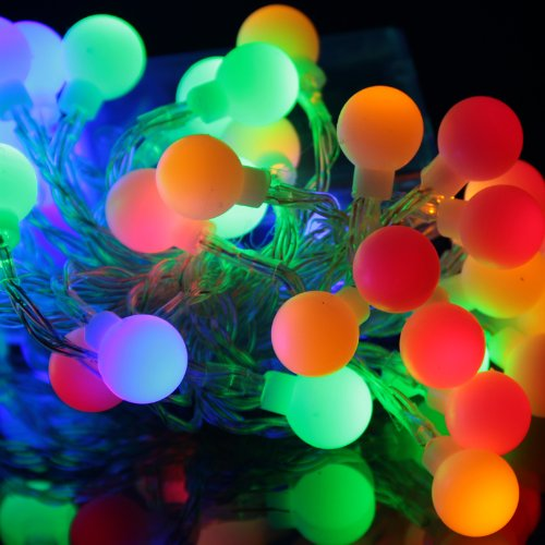 EiioX Muti-color RGB Color Changing 4m/13ft 40 Round Ball LED Lights Fairy Lights string for Christmas XMAX Tree, Partys, Weddings, Family, Festival