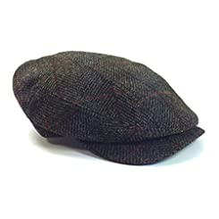 Brown Plaid Irish Tweed Cap by Mucros of Killarney Sz M