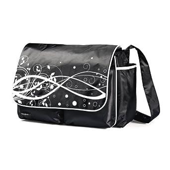 Samsonite Unisex-Baby Newborn Messenger Diaper Bag, Black/White, 16