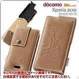 レイアウト Xperia acro IS11S、SO-02C用ワンピースフラップタイプレザージャケット/チョッパー  RT-OIS11SB/CH