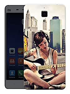 """Humor Gang Trendy Girl Playing Guitar Printed Designer Mobile Back Cover For """"Xiaomi Redmi Mi4"""" (3D, Matte, Premium Quality Snap On Case)"""