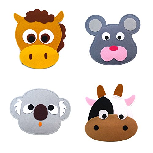 Animal Headband masks horse+mouse+koala+cow