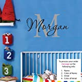 Morgan Wall Decal Childrens Personalized Name - Childrens Wall Art - Boys Name Wall Decal - Monogram - Nursery Decor