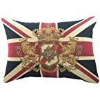 Union Flag and Crest Cushion