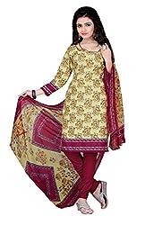 Jinal Fashion women's crepe dress material (Green_color)