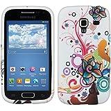 kwmobile �TUI EN TPU silicone pour Samsung Galaxy Ace 2 i8160 Motif fleurs blanc rouge etc.. �tui design tr�s styl� en TPU souple de qualit� sup�rieure