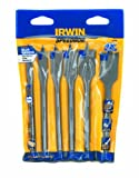 Irwin 88899 Speedbor 6 Piece 3/8-Inch to 1-Inch Spade Drill Bit Assortment with Rack