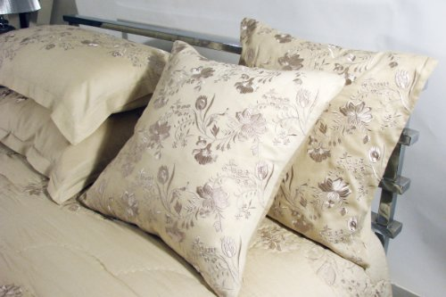 Bedspread Quilt Pillow Sham Set - SAND Taj - King/Super King Luxury