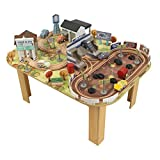 Disney KIDKRAFT Pixar Cars 3 Thomasville 70 Piece Wooden Track Set with Accessories and Table