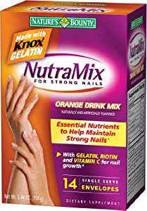 Nature's Bounty Nutramix for Strong Nails, Orange Flavor 5.44-Ounce (Pack of 2)