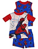 Spiderman - Boys Short Sleeve Spiderman 3 Piece Pajama Set