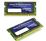 Kingston HyperX memoria - 4 GB ( 2 x 2 GB ) - SO DIMM de 200 espigas - DDR2 - 667 MHz / PC2-5300 - CL4 - 1.8 V - memoria sin búfer - SIN ECC