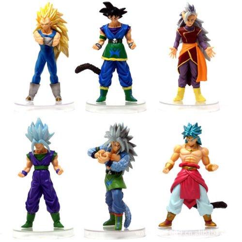 Lots of 6pcs DBZ Goku Figure Set Anime Collection (Cooler Dbz Action Figure compare prices)