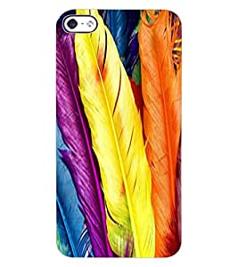 ColourCraft Lovely Feathers Design Back Case Cover for APPLE IPHONE 4