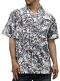 (ルーシャット) ROUSHATTE アロハシャツ 半袖 大きいサイズ ハイビスカス 3L ホワイト
