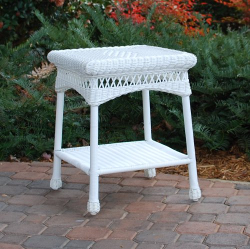 Tortuga Outdoor Portside Side Table - White picture