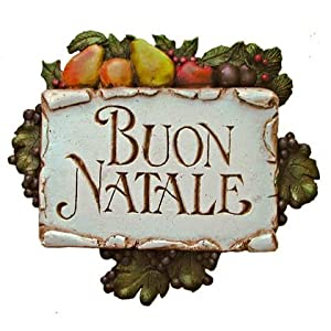 Click to buy Italian Christmas decorations : 'Buon Natale' plaque from Amazon!