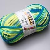 100 gr Sockenwolle Regia 4-fach Fluormania neon ocean color Fb.7189