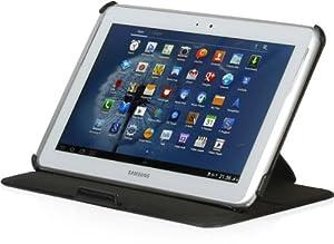 StilGut UltraSlim Case V2, Tasche mit Stand- und Präsentationsfunktion für Samsung Galaxy Note 10.1, schwarz