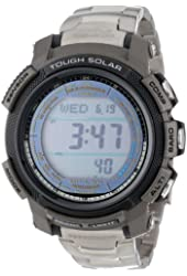 "Casio Men's PAW2000T-7CR ""Pathfinder"" Digital Multi-Function Titanium Watch with Link Bracelet"