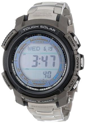 Casio Men's PAW2000T-7CR Pathfinder Digital Multi-Function Titanium Watch