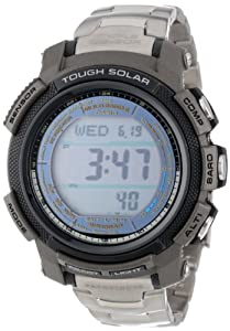 "Casio Men's PAW2000T-7CR ""Pathfinder"" Digital Multi-Function Titanium Watch with Link Bracelet"