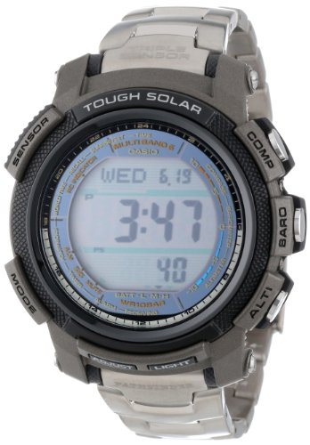 Casio Men's PAW2000T-7CR Pathfinder Digital Multi-Function Titanium Bracelet Watch