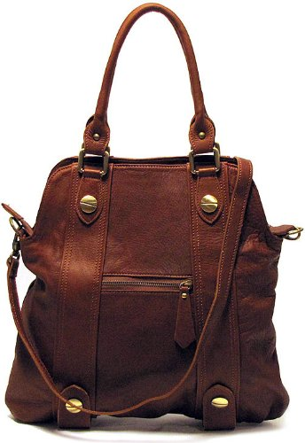 Floto Luggage Bolotana Handbag, Brown, Medium