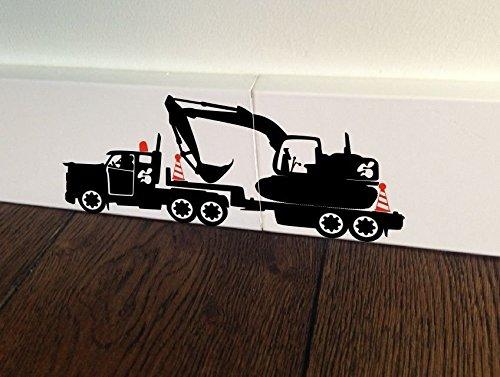 maus baumeister bagger bob mini dumper rennwagen bagger loch home live funny art wand aufkleber. Black Bedroom Furniture Sets. Home Design Ideas
