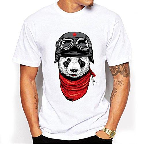 Camicia Casual Men 's Del Fumetto Stampato Maniche Corte In Cotone T - Shirt ()
