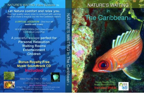 Nature's Waiting in The Caribbean © Video DVD with Copyright Free Soundtrack Music CD (2 Disk Set)
