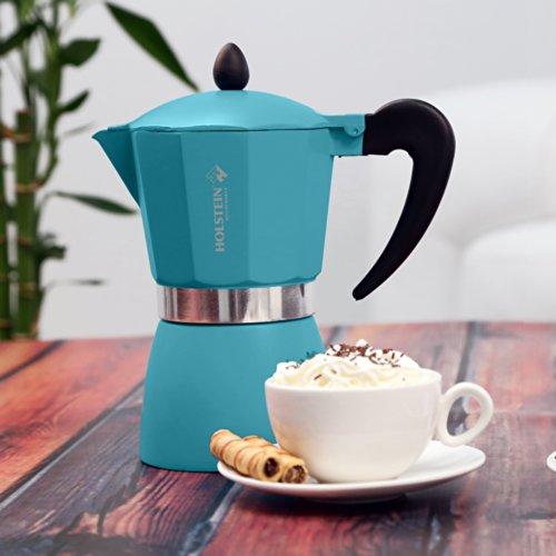 Pezzetti-Italexpress 6cup Percolator Coffee Maker and Espresso Cup Set Red