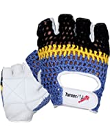 TurnerMAX Crochet Leather Weight Lifting Gloves for Body Building Training Cycling Gym Fitness Grip White
