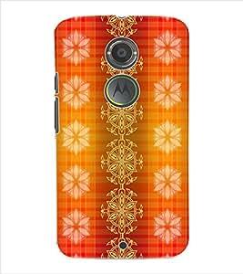 ColourCraft Colour Pattern Back Case Cover for MOTOROLA MOTO X2