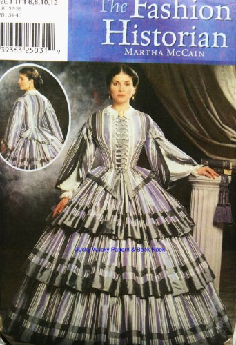 Simplicity Sewing Pattern 9761 Civil War Dress / Gown, Sizes 6-8-10-12