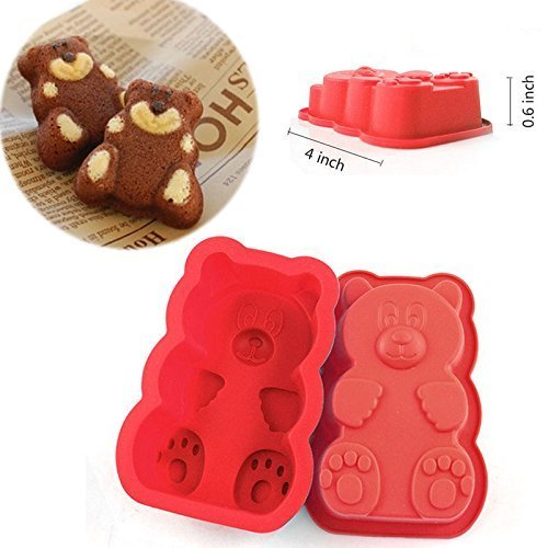 Cavity PURE Food Grade Silicone Gummy Bear Mold. No Plastic Fillers, BPA, or Chemical Coating; Fruity Snack Candy, Chocolate, Soap Making, Gelatin, Ice Treats by DidaDi (Gummy Bear Cake compare prices)