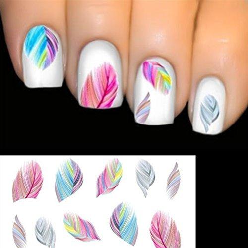 elenxs beauty zubeh r nail art wassertransfer abziehbild aufkleber regenbogentr ume. Black Bedroom Furniture Sets. Home Design Ideas