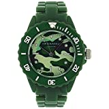 Identity London Boys Analogue Green Army Camouflage Plastic Strap Watch 927/7384
