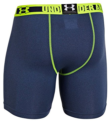 Under Armour Heat Gear Sonic Compression Shorts - Denim/Yellow