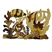Intarsia Wooden Wall Plaque - Coral Reef