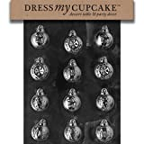 Dress My Cupcake DMCC007 Chocolate Candy Mold Assorted Ornaments Christmas