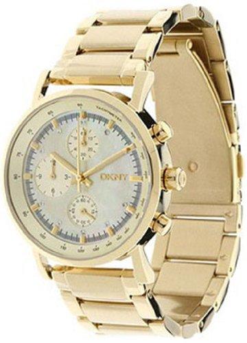 DKNY Chronograph Quartz Gold Tone Dial Women's Watch NY4332