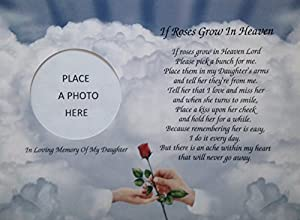 Amazon.com: In Memory of Daughter If Roses Grow In Heaven