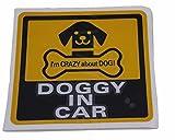 DOG IN CAR ( 12cm DOGGY )( シール ステッカー 外貼り デザイン )