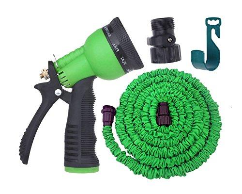 Expandable garden hose by gardeniar 50ft green strong for Best flexible garden hose