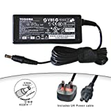 Toshiba Satellite Pro U400, U300, U400 Series Laptop Power Supply / AC Adapter Charger - Inc UK Power Cord (Supplied By 100millionparts.co.uk)