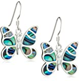 Tuscany Silver Damen-Ohrringe Pava Shell Butterfly Drop - 8.58.4119