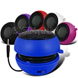 Blue 3.5mm Mini Portable Speaker Bass Travel Round Twist Out Booster Super Sound Pocket Size Capsule For NOKIA LUMIA 510 (L) Mobile Cellular Phone